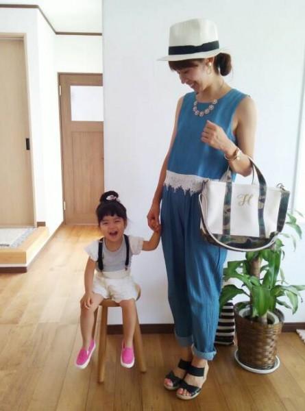 5day mama 帽子→ユニクロ オールインワン→ZOZOTOWN(mysty woman) サンダル→ローズバッド kids Tシャツ→西松屋 パンツ→しまむら サスペンダー→ダイソー 靴→ヒラキ